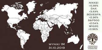 Fundusze inwestycyjne - podsumowanie października 2019